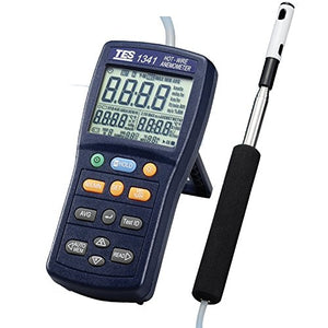 TES Instruments TES-1341 Hot-Wire Anemometer, Data Logging