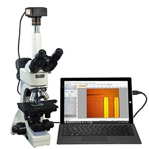 OMAX 40X-2500X USB3 14MP Infinity Trinocular Metallurgical Microscope + Transmitted/Reflected Light