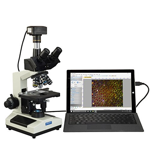 OMAX 40X-2500X Super Speed USB3 18MP Digital Darkfield Trinocular LED Lab Microscope for Live Blood