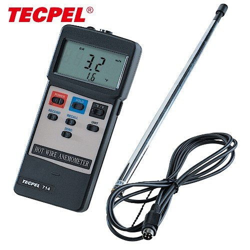 Tecpel Hot wire anemometer AVM-714