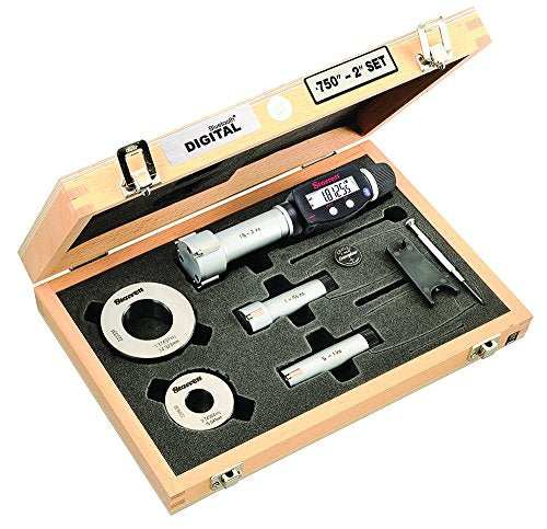 Starrett S770BXTEZ Electronic Internal Bore Micrometer Set, 3-Point Contact (3/4-2