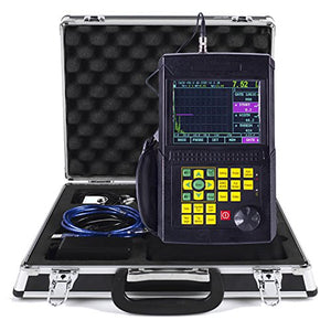 VTSYIQI Portable Digital Ultrasonic Flaw Detector Defectoscope Leeb510 Scanning Range 0 to 6000mm with Automatic Calibration Probe DAC AVG Curve LCD USB Ultrasonic Flaw Test Testing Sensitivity ≧62dB