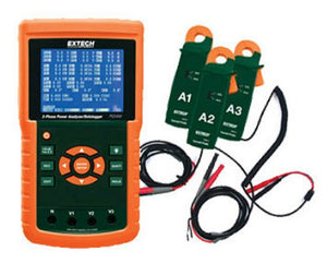 Extech PQ3450-2 200A 3-Phase Power Analyzer and Data Logger Kit