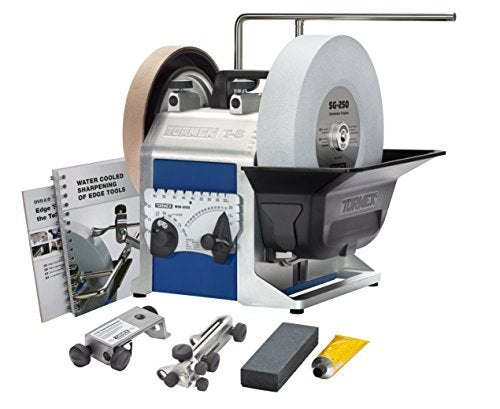 Tormek Sharpening System Chefs System TBC807 T8. A Complete Water Cooled Sharpener with Three Knife jigs, the Scissors Jig and Machine Cover.