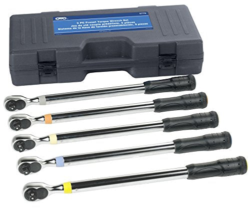 OTC Tools 5776 5 Piece Preset Torque Wrench Set