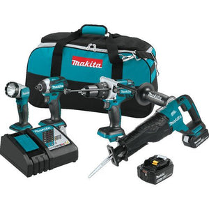 Makita XT450T 18V LXT Lithium-Ion Brushless Cordless Combo Kit (4 Piece)