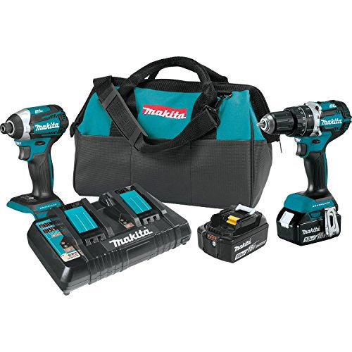 Makita XT275PT 18V LXT Lithium-Ion Brushless Cordless 2-Pc. Combo Kit (5.0Ah)
