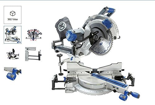 Kobalt 12-in 15-Amp Dual Bevel Sliding Laser Compound Miter Saw