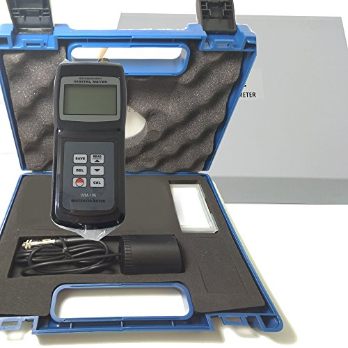 VTSYIQI WM-106 Digital Whiteness Meter White Paper/Flour/Paint/Lime Whiteness Detector R457 Blue Light Whiteness Measurement Tester Meter White, Black