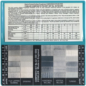 Fowler Full Warranty 52-720-000-0 Surface Roughness Standards Complete Scale Set, 30 Specimens