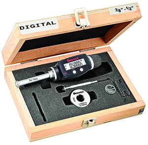 "Starrett 770XTZ-500 Electronic Digital Internal Bore Micrometer, SPC output, 3/8-1/2"" Range, 0.00005"" / 0.001mm  Resolution"