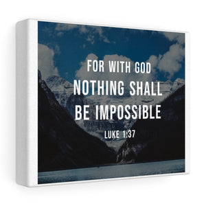 Luke 1:37 Canvas