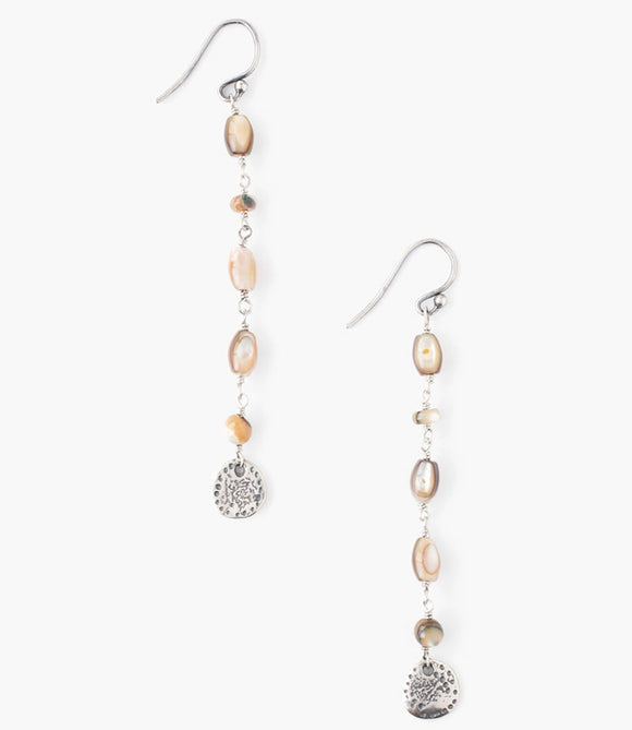 Chan Luu Abalone Mixed Tiered Earrings