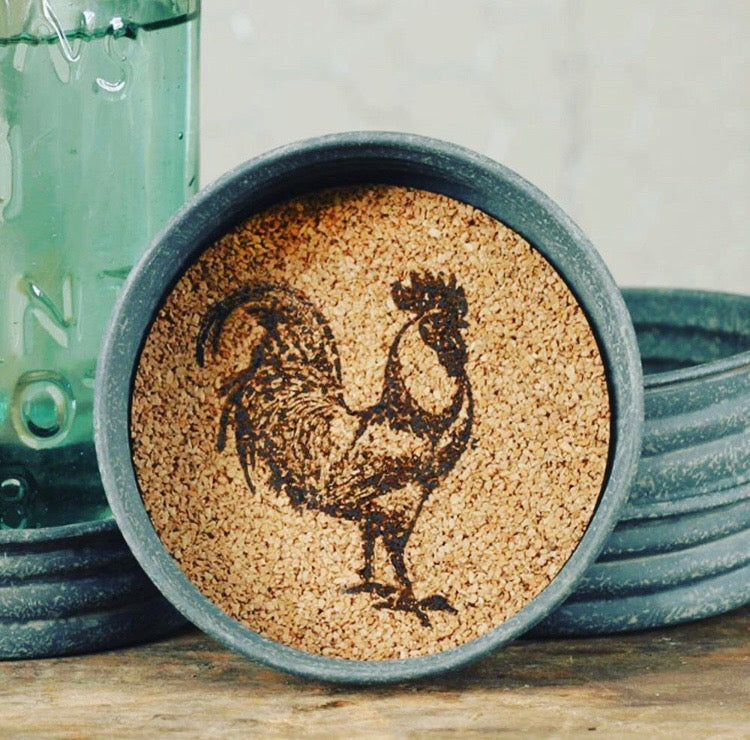 Rooster Coasters (set of four)