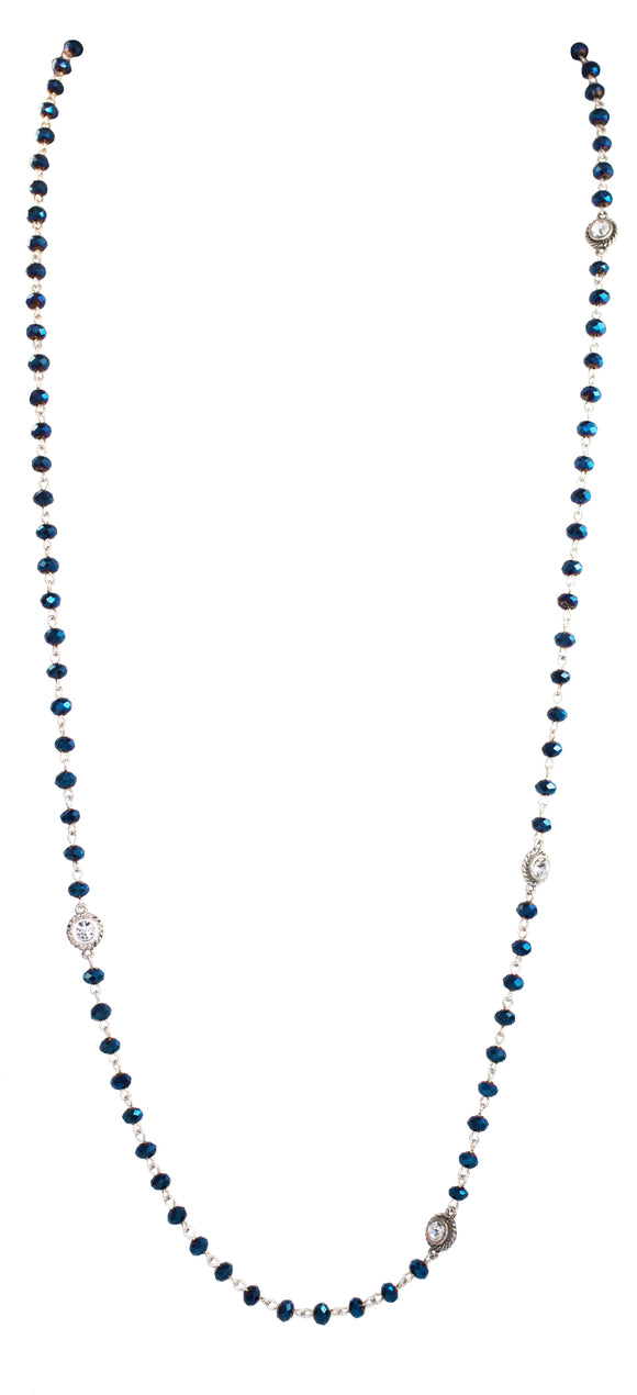 Virgin Saints & Angels Blue Velvet Crystal Wrap