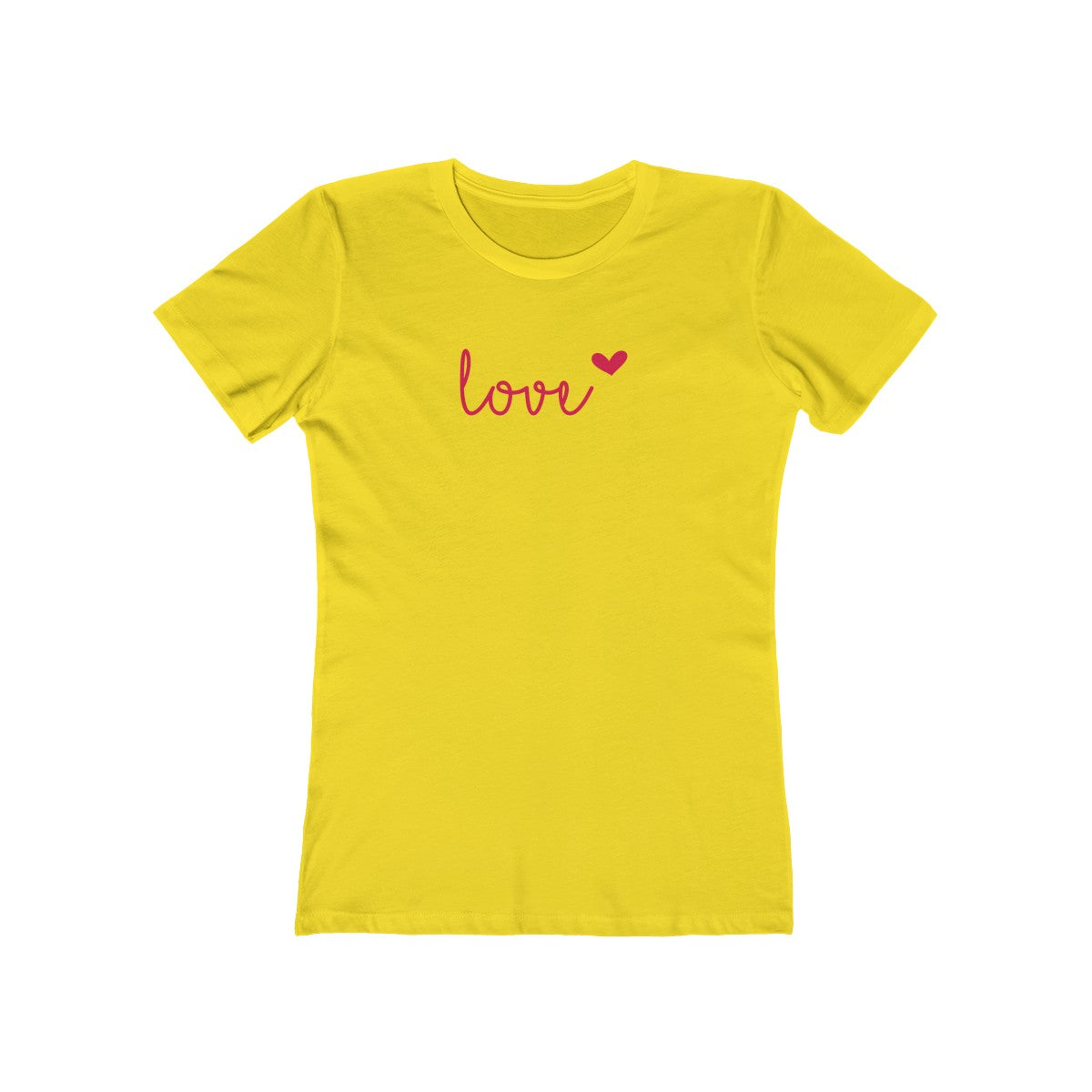 Love Heart Women's The Boyfriend T-Shirt