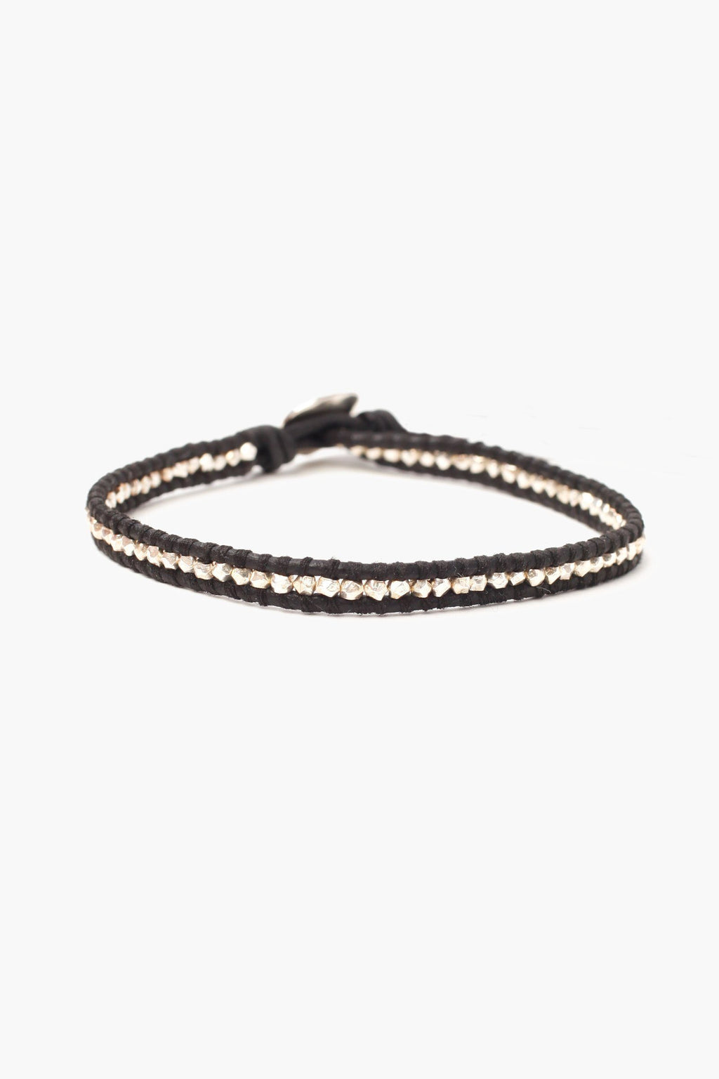 Chan Luu Silver Men's Single Wrap Bracelet