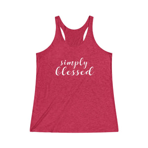 Simply Blessed  Tri-Blend Racerback Tank