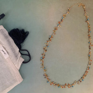 Chan Luu 18k Gold Plated Crystal Beaded Necklace