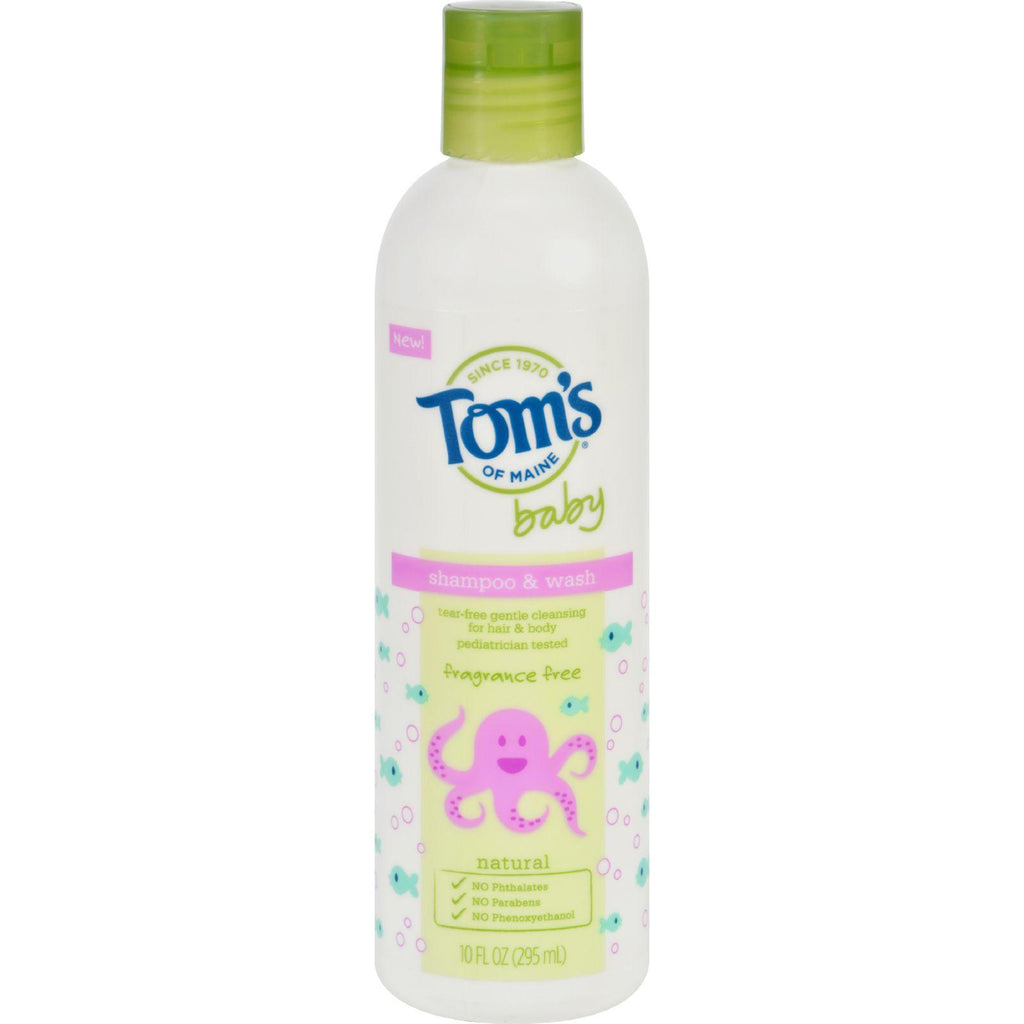 Tom's Of Maine Baby Shampoo & Wash Fragrance Free - 1 Each - 10 Oz.