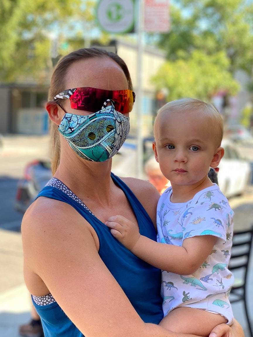 mother and child handmade face mask