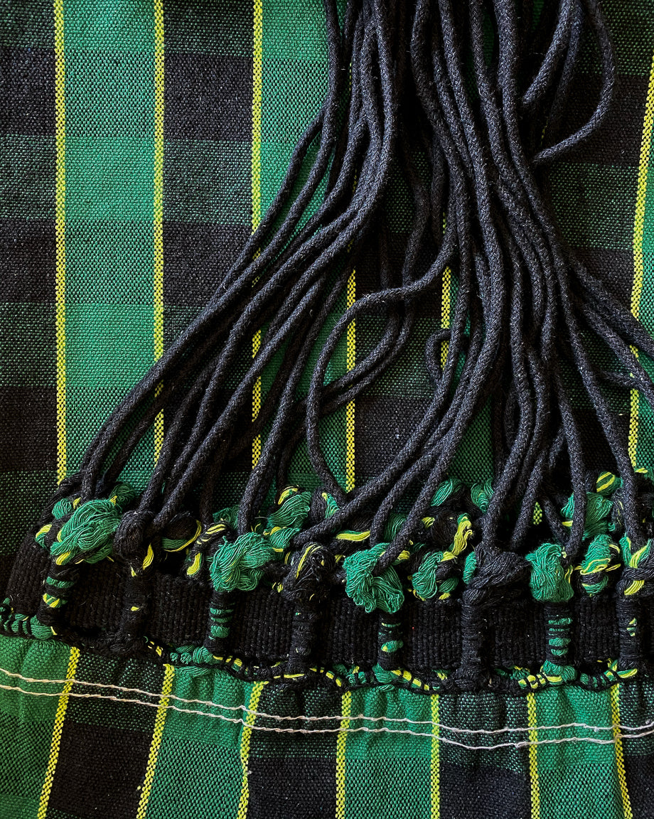 green plaid cotton hammock maria canta