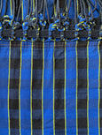 blue and black plaid hammock brazilian cotton maria canta