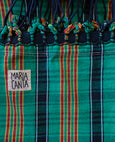 green and black plaid hammock brazilian cotton maria canta