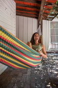 plaid cotton hammock rasta colors