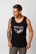 muscle shirt screen printed black hot man maria canta