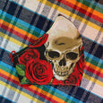 skulls and roses face masks