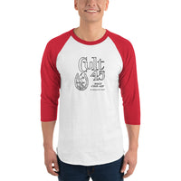 Cult 45 by GOP 3/4 Sleeve Raglan T-shirt