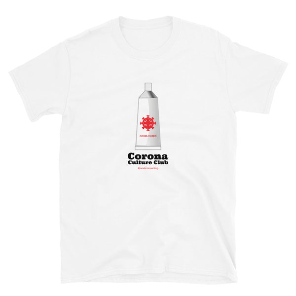 Corona Culture Club White/Gray Short-Sleeve Unisex T-Shirt for Painting