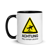 Achtung May Contain Alcohol Mug with Color Inside