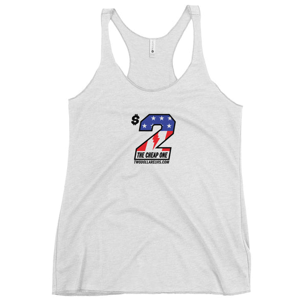 $2 Elvis - The Cheap One Women's Racerback Tank