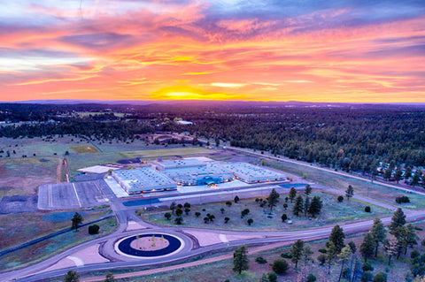 Sunset over Blue Ridge Elementary School 2