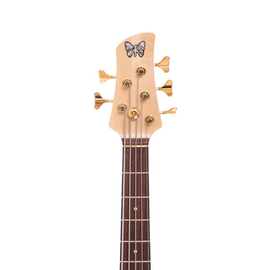 Fodera Monarch 5 Standard Special Flamed Maple Headstock