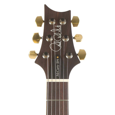 PRS McCarty Singlecut 594 Black Gold Wrap Burst 10-Top Headstock