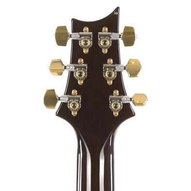 PRS McCarty Singlecut 594 Black Gold Wrap Burst 10-Top Headstock Back