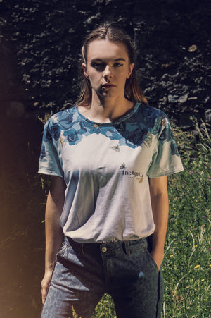T-SHIRT Incognita - Con stampa floreale Blue Rose