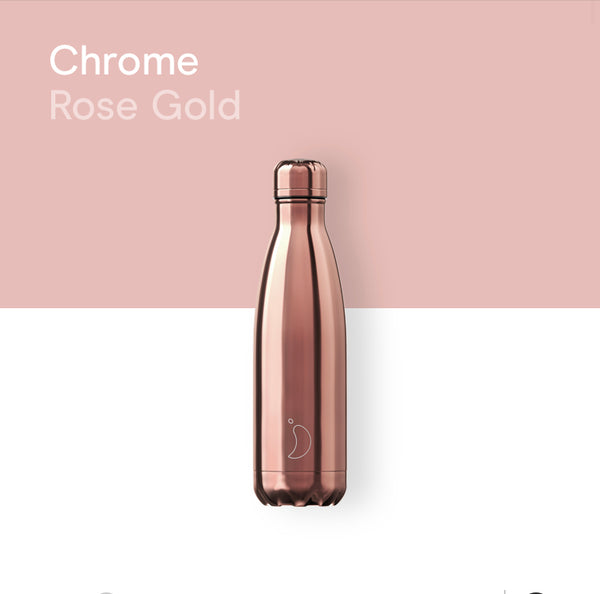 Chilly's Chrome bottle 500ml - Rose gold