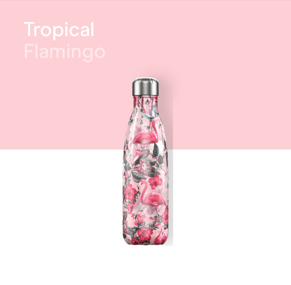 Chilly's Tropical bottle 500ml - Flamingo