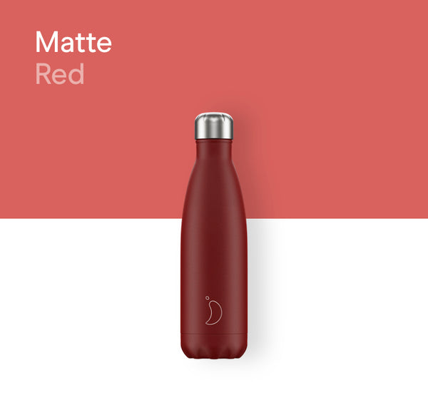 Chilly's plain bottle 500ml - Matte red