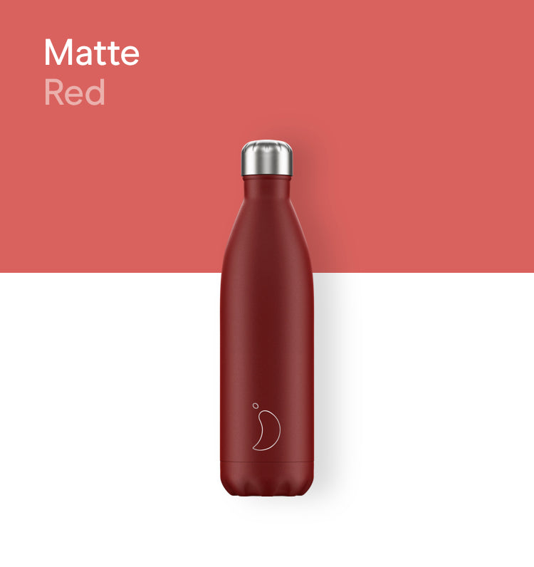 Chilly's bottle 750ml - Matte red