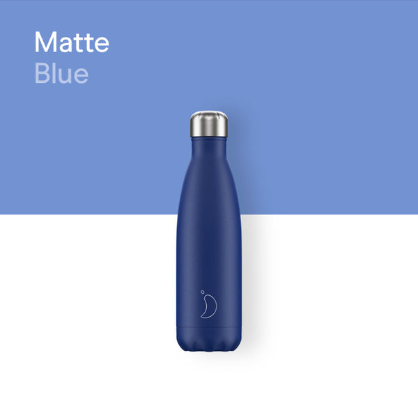 Chilly's plain bottle 500ml - Matte blue
