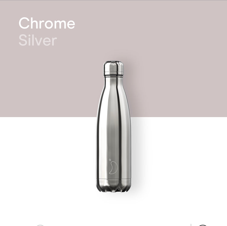 Chilly's Chrome bottle 500ml - Silver