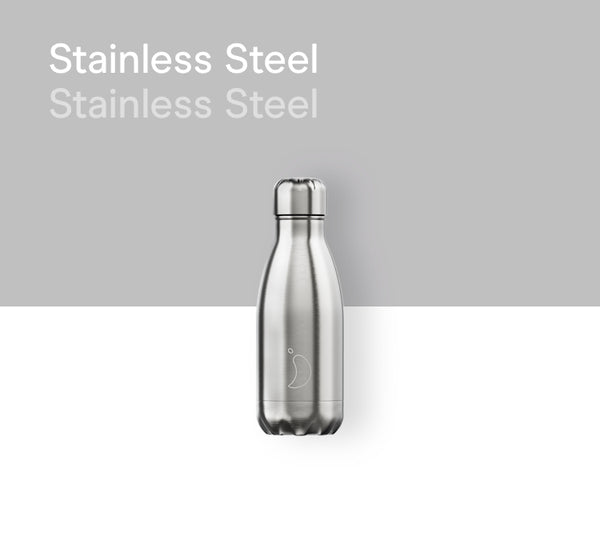 Chilly's plain bottle 260ml - Metals stainless steel