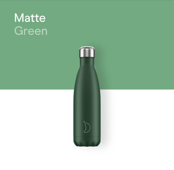 Chilly's plain bottle 500ml - Matte green