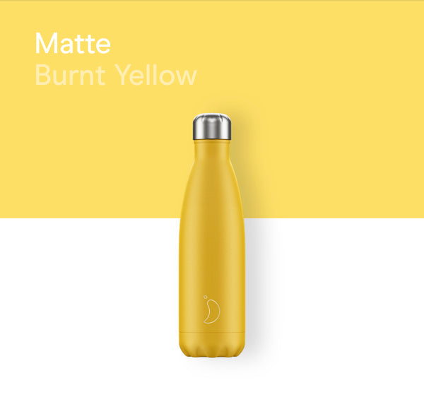 Chilly's plain bottle 500ml - Matte burnt yellow
