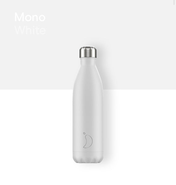 Chilly's bottle 750ml - Mono white